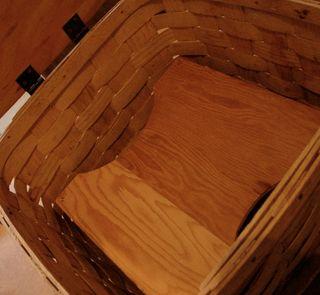 Inside pie basket